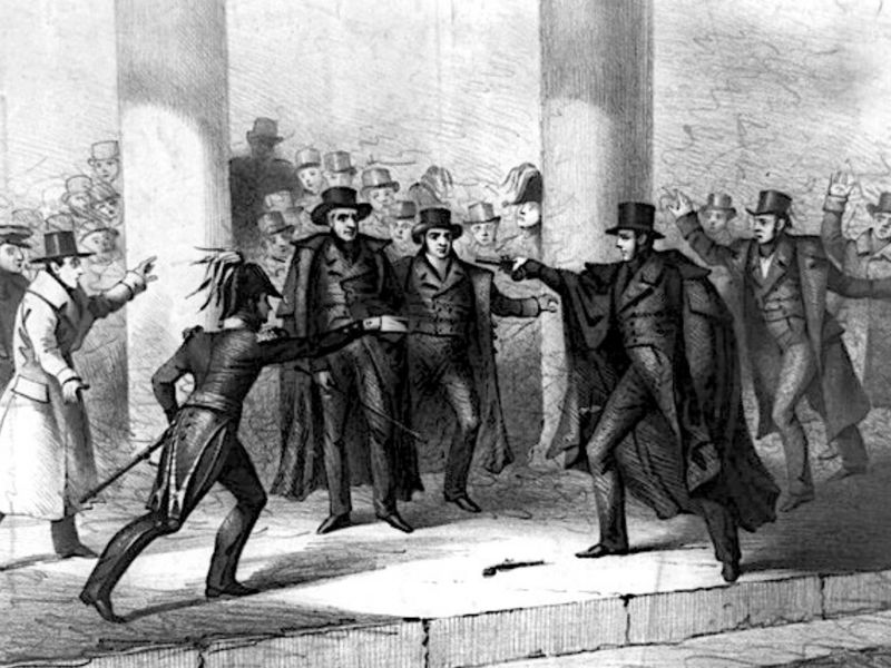 Assassination of Andrew Jackson drawing