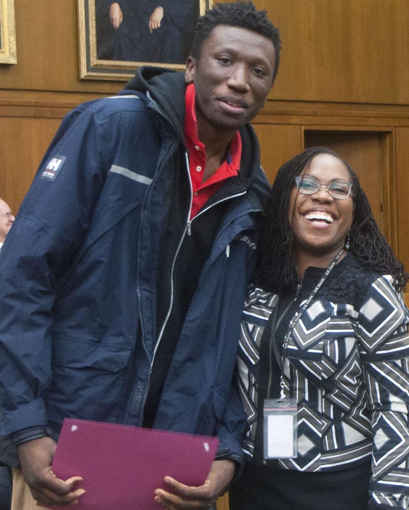 Judge Ketanji Jackson and student