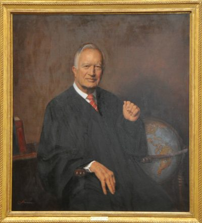 DC Circuit Court Judge Malcolm R. Wilkey, portrait by Herbert E. Abrams