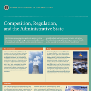 Competition, Regulation, and the Administrative State